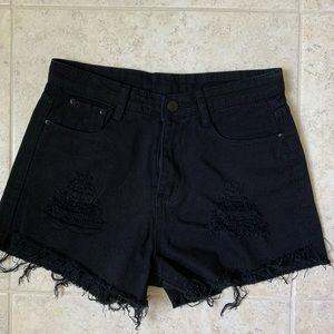 New Black Denim Shorts